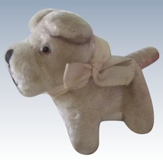 Vintage Japanese Miniature Stuffed Toy Dog Doll Accessory c1950