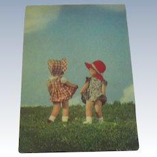 Vintage Kathe Kruse Doll Postcard c1950