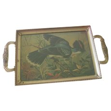 Vintage Small Art Deco Bird Tray with Handles c1930