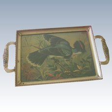 Vintage Small Art Deco Bird Tray with Handles c1930