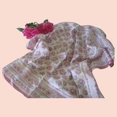 Vintage Liberty of London Floral Ikat Silk Scarf