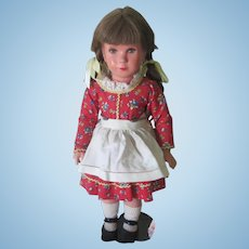 Vintage All Original German Kathe Kruse Celluloid Doll c1955