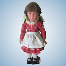 Vintage All Original German Kathe Kruse Celluloid Doll c1955