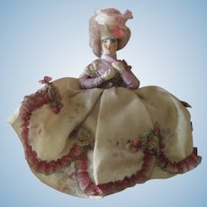 Antique Miniature 18thc Style Dollhouse Lady Doll