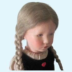"Gorgeous All Original Kathe Kruse 20"" German Child Doll C1930's-40"