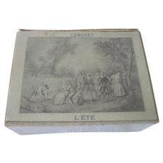 Old French Decorative Chocolate or Sweets Box c1900