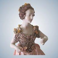 Antique German Dressel and Kister? Large Porcelain Half Doll