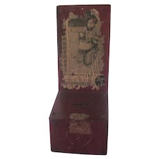 Vintage San Francisco China Relief Wooden Advertising Donation Box c1940