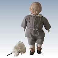 Antique Cloth and Composition Campbell's Kid Doll