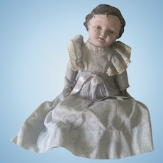 Old Primitive Papier Mache and Cloth Baby Doll c1910
