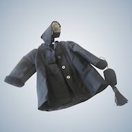 Vintage Antique Style Doll Bonnet, Coat and Purse Outfit