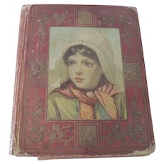 Old Victorian Postcard Greeting Card and Die Cut Embossed Filled Album c1900