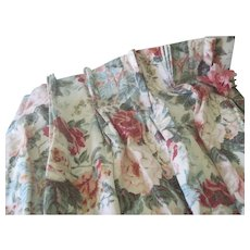 Pair of Vintage English Floral Chintz Curtains Drapes