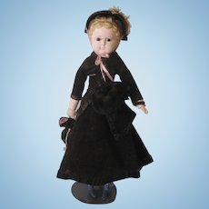 Antique Wax Over Papier Mache Doll
