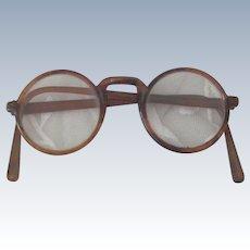 Vintage 1920's - 30's  Tortoise Shell Eyeglasses