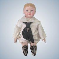 "Antique Martha Chase Oilcloth Doll 22"""