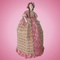 Old Vintage Composition Half Doll Lamp Shade C1930