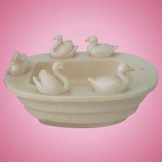Vintage 1930's-40's Toy Celluloid Doll Bathtub with Ducks