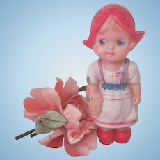 Vintage 1950's Celluloid Dutch Doll