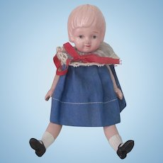 Vintage 1930's Celluloid Little Girl Doll