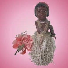 Vintage 1930's Josephine Baker Celluloid Mechanical Dancing Doll