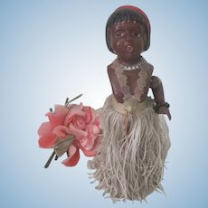 Vintage 1930's Josephine Baker Celluloid Mechanical Dancing Doll