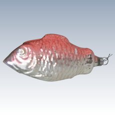 Vintage German Blown Glass Fish Christmas Ornament C1930's
