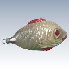 Vintage 1930's German Blown Glass Fish Christmas Ornament
