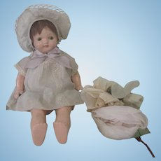 Vintage 1920's - 30's All Original Composition Baby Doll