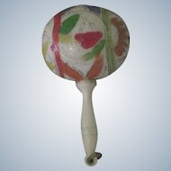 Old Miniature Celluloid Baby Doll Rattle
