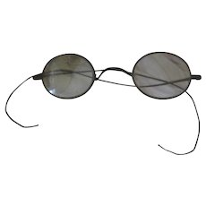 5856aa53c348 Old Victorian Wire Rimmed Eyeglasses Spectacles
