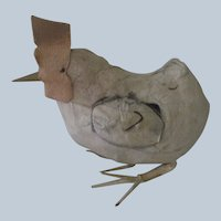 Old Miniature Felt Rooster Toy Doll Accessory