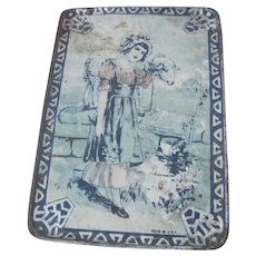 Old Children's  Doll's Toy Metal Lithographed Tray c1920