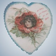 Old Victorian Valentine Card Dated 1907