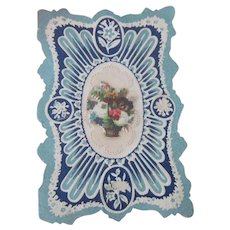 Old Victorian Valentine with Die Cut and Paper Lace