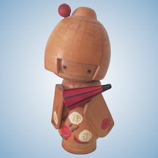 Vintage Japanese Wooden Kokeshi Doll c1950