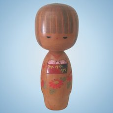 Large Vintage Wooden Japanese Kokeshi Art Doll c1950