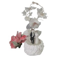 Old Victorian Wedding Cake Topper Dolls c1900