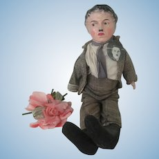 Antique Amberg Composition Charlie Chaplin Doll c1915