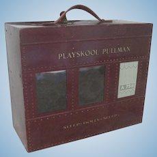 Old Vintage Playskool Pullman Embossed Tin Doll Train Sleep Car c1930
