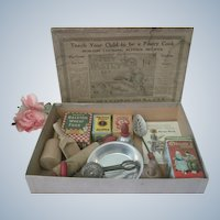 Vintage 1920's Children's Toy Baking Set Doll Accessory