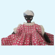 Vintage 1950's Black Cloth Mammy Toaster Cover Doll