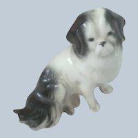 Old Miniature Porcelain Dollhouse Dog