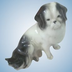 Old Miniature Porcelain Dollhouse Dog