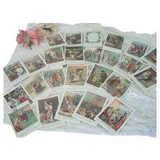 Set of Old Church Sunday School Children's Teaching Cards