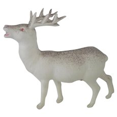Vintage Celluloid Christmas Reindeer c1940 - 50