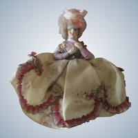 Antique Miniature 18thc Style Dollhouse Lady Doll c1910