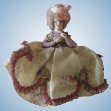 Antique Miniature 18thc Style Dollhouse Lady Doll c1910