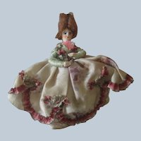 Antique Miniature 18th c Style Dollhouse Doll c1910
