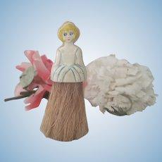 Old Vintage Celluloid Doll Brush c1920